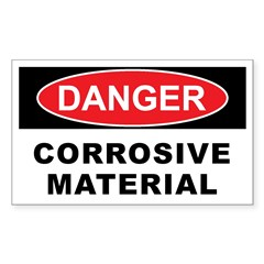CORROSIVE MATERIAL Decal