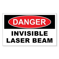 INVISIBLE LASER BEAM Decal
