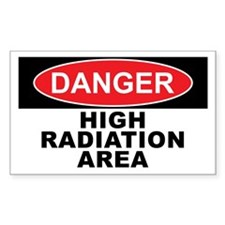 HIGH RADIATION AREA Decal