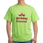 50th Birthday Princess! Green T-Shirt