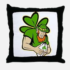 rish leprechaun rugby Throw Pillow
