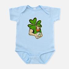 rish leprechaun rugby Infant Bodysuit