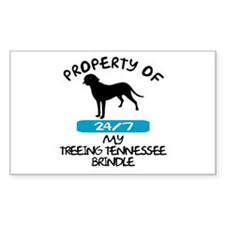 Treeing Tennessee Brindle Rectangle Decal