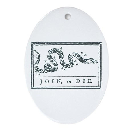 Join, or Die™ Ornament (Oval)