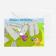 Funny stone henge Birthday brother Card