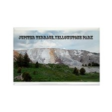 Jupiter Terrace, Yellowstone Park Rectangle Magnet