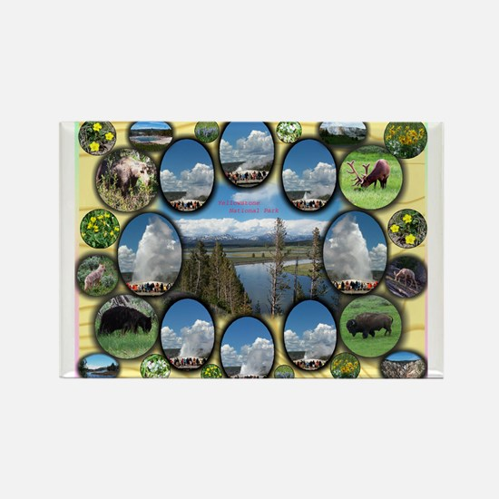 Yellowstone Park Rectangle Magnet