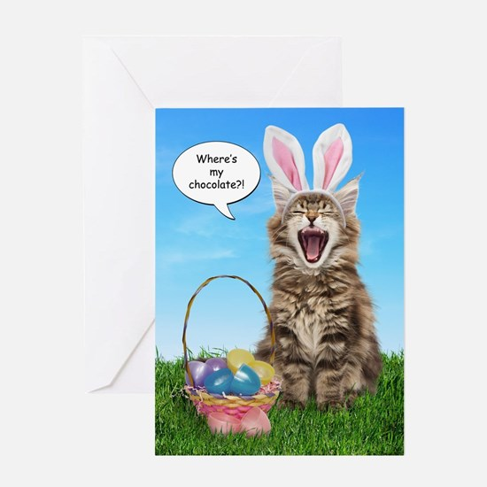 Where's My Chocolate? Easter Greeting Card