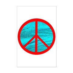 peace red Posters