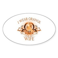 I Wear Orange for my Wife (floral) Decal