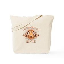 I Wear Orange for my Uncle (floral) Tote Bag
