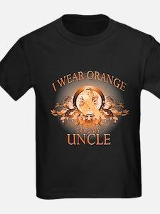 I Wear Orange for my Uncle (floral) T