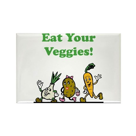 Eat Your Veggies! Rectangle Magnet (100 pack)