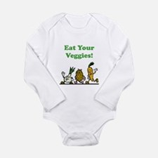 Eat Your Veggies! Long Sleeve Infant Bodysuit