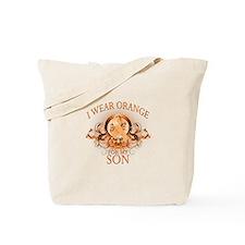 I Wear Orange for my Son (floral) Tote Bag