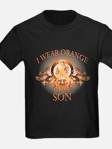 I Wear Orange for my Son (floral) T
