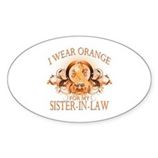 I Wear Orange for my Sister In Law (floral) Sticke