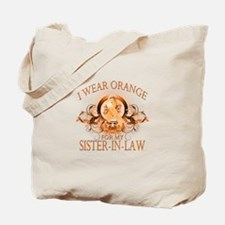 I Wear Orange for my Sister In Law (floral) Tote B