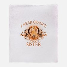 I Wear Orange for my Sister (floral) Stadium Blan