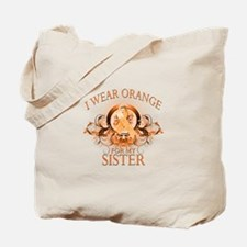 I Wear Orange for my Sister (floral) Tote Bag