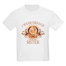 I Wear Orange for my Sister (floral) T-Shirt