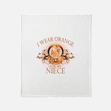 I Wear Orange for my Niece (floral) Stadium Blank