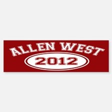 Allen West 2012 Bumper Bumper Sticker