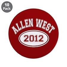 """Allen West 2012 3.5"""" Button (10 pack)"""