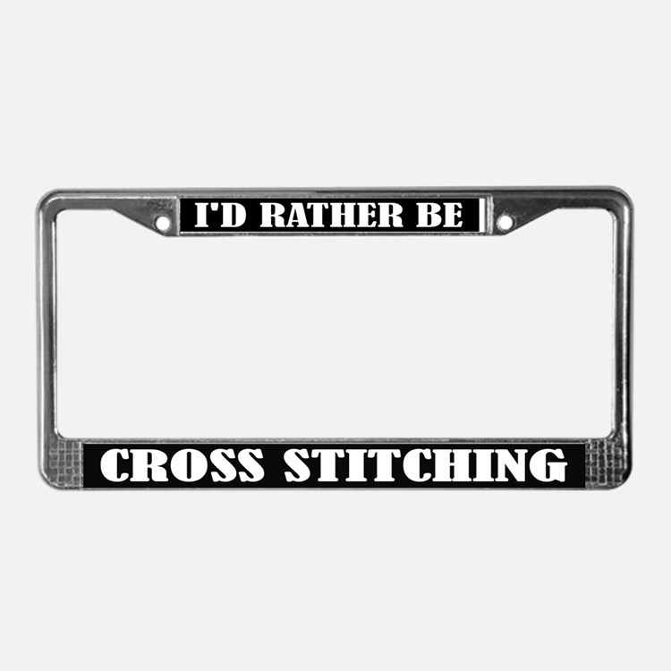Cross Stitching License Frame