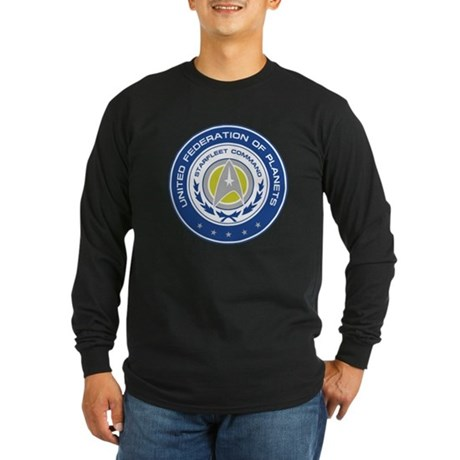 Starfleet Command Long Sleeve Dark T-Shirt