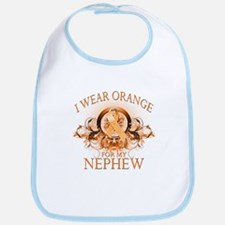 I Wear Orange for my Nephew (floral) Bib