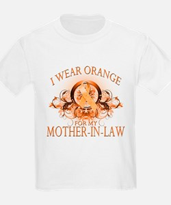 I Wear Orange for my Mother In Law (floral) T-Shirt