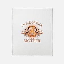I Wear Orange for my Mother (floral) Stadium Blan