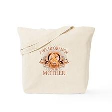 I Wear Orange for my Mother (floral) Tote Bag