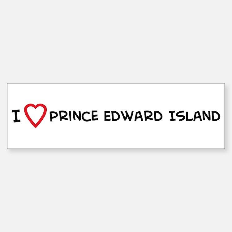 I Love Prince Edward Island Bumper Bumper Bumper Sticker