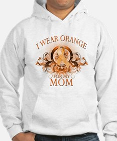 I Wear Orange for my Mom (floral) Hoodie