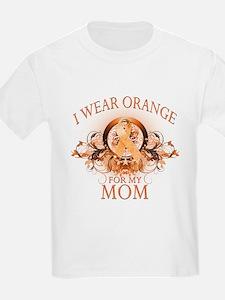 I Wear Orange for my Mom (floral) T-Shirt