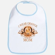 I Wear Orange for my Mom (floral) Bib
