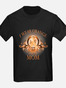 I Wear Orange for my Mom (floral) T