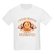 I Wear Orange for my Husband (floral) T-Shirt