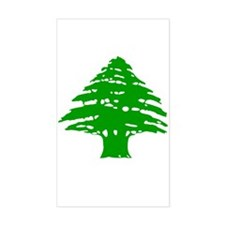 Green Cedar Tree Rectangle Decal
