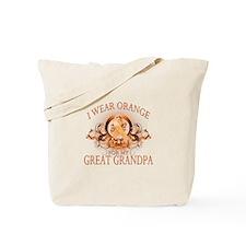 I Wear Orange for my Great Grandpa (floral) Tote B