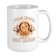 I Wear Orange for my Great Grandpa (floral) Mug