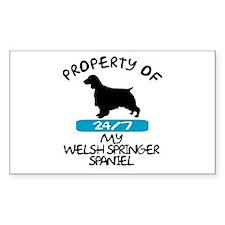 Welsh Springer Spaniel Rectangle Decal