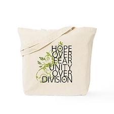 Obama Vine Half - Over Division Tote Bag