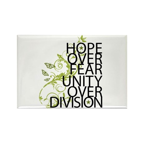 Obama Vine Half - Over Division Rectangle Magnet (