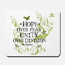 Obama Vine - Hope over Division Mousepad