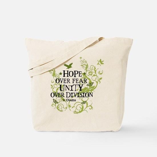 Obama Vine - Hope over Division Tote Bag