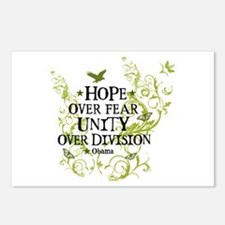 Obama Vine - Hope over Division Postcards (Package