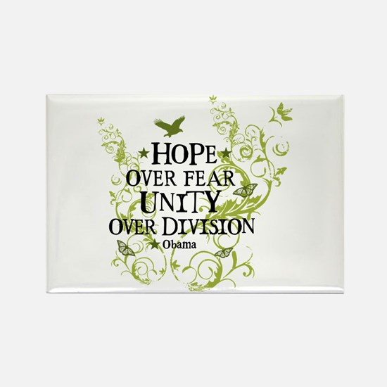 Obama Vine - Hope over Division Rectangle Magnet